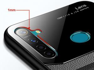 کاور دور دوخت چرم و گلس مدل Delicate Case مناسب برای گوشی موبایل شیائومی Redmi Note 8