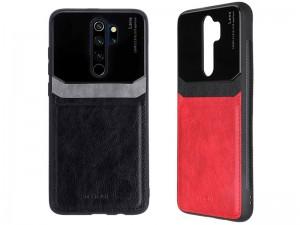 کاور دور دوخت چرم و گلس مدل Delicate Case مناسب برای گوشی موبایل شیائومی Redmi Note 8 Pro
