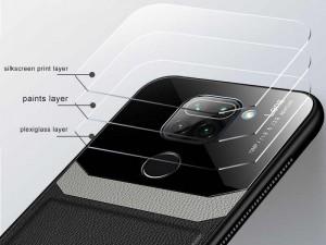 کاور دور دوخت چرم و گلس مدل Delicate Case مناسب برای گوشی موبایل شیائومی Redmi Note 9/Redmi 10x 4G
