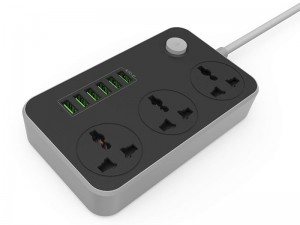 چند راهی برق الدینو مدل SC3604 (دارای 6 پورت USB)