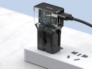 شارژر دیواری فست شارژ جهانی بیسوس مدل Universal Conversion Plug