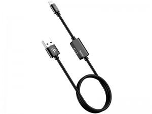کابل صدا و شارژ لایتنینگ بیسوس مدل Music Series Audio Cable