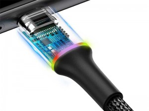 کابل فست شارژ تایپ سی بیسوس مدل Halo Data Cable به طول 1 متر
