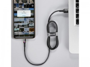 کابل فست شارژ لایتنینگ بیسوس مدل Halo Data Cable به طول 1 متر