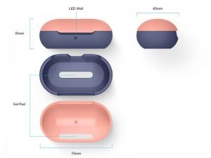 کاور محافظ الاگو مدل Silicone Hang Case مناسب برای هندزفری گلکسی بادز سامسونگ
