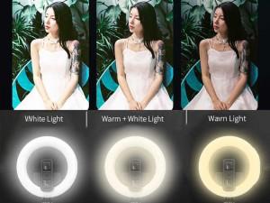 رینگ لایت عکاسی مدل L07 بهمراه مونوپاد بلوتوثی سه پایه دار