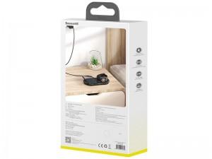 شارژر بی سیم دو کاره بیسوس مدل Planet 2in1 Cable Winder+Wireless Charger
