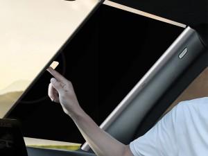 آفتاب گیر شیشه خودرو بیسوس مدل Auto Close Car Front Window Sunshade (طول 58 سانتیمتر)
