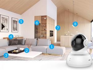 دوربین تحت شبکه 360 درجه شیائومی مدل YI Dome Camera 720p