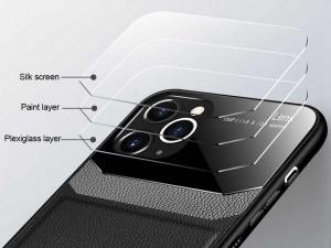 کاور دور دوخت چرم و گلس مدل Delicate Case مناسب برای گوشی موبایل iPhone 12 mini