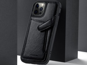 کاور چرمی اورجینال نیلکین مدل Aoge Leather Case مناسب برای گوشی موبایل iPhone 12/12 Pro