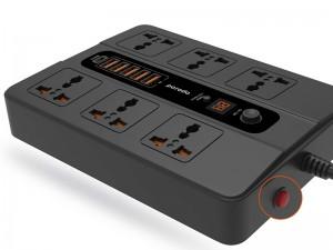 چند راهی برق دیجیتالی پرودو مدل PD-FWCH003 (دارای 5 پورت USB و 1 پورت Type-C)