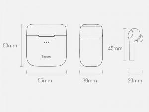 هندزفری بی سیم بیسوس مدل Encok W06 NGW06-02 بهمراه کیس شارژ بی سیم