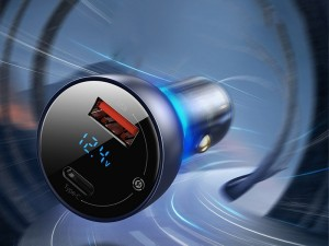 شارژر فندکی سوپر شارژ بیسوس مدل Particular Digital Display QC + PPS Dual Quick Charger 65W CCKX-C0G