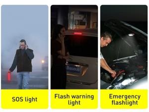 چراغ اضطراری خورشیدی داخل خودرو بیسوس Solar Emergency Car Flashlight CRYJD01-01