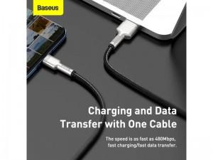 کابل سوپر شارژ تایپ سی بیسوس مدل Cafule Series Metal Data Cable 40W CATJK-B01 به طول 2 متر