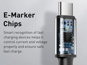 کابل فست شارژ دو سر تایپ سی بیسوس مدل High Density Braided Fast charging Data Cable 100W GATGD-01 به طول 1 متر