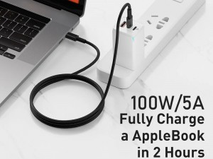 کابل فست شارژ دو سر تایپ سی بیسوس مدل High Density Braided Fast charging Data Cable 100W GATGD-A01 به طول 2 متر