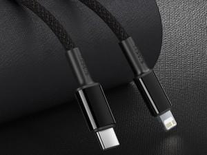 کابل فست شارژ Type-C به Lightning بیسوس مدل High Density Braided Fast charging Data Cable 20W GATLGD-01 به طول 1 متر