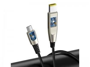 کابل دو سر تایپ سی به فیش DC لپ تاپ بیسوس مدل One-for-two Fast Charging Data Cable Type-C to C+DC 100W CA1T2-B01