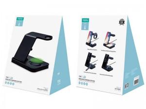 شارژر بی سیم چند کاره توتو مدل Wireless charging station 5 IN 1