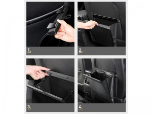 کیسه چرمی چند منظوره داخل خودرو بیسوس Large Garbage Bag CRLJD-A01
