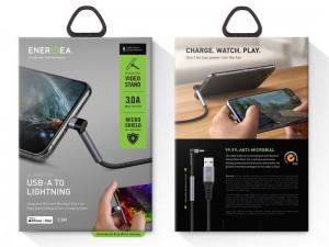 کابل لایتنینگ مخصوص بازی انرژیا مدل Energea Alutough USB-A TO MFI Lightning ANTI-Microbial Video Standing Cable 1.5M