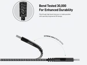 کابل فست شارژ Type-C به Lightning انرژیا مدل FibraTough به طول 30 سانتیمتر