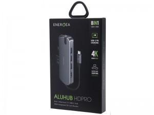 هاب تایپ سی 8 پورت انرژیا مدل AluHub HD PRO