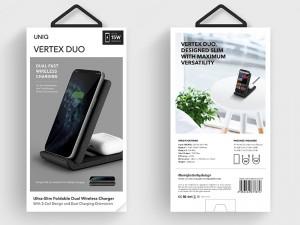 استند شارژر وایرلس دو کاره یونیک مدل Vertex Duo
