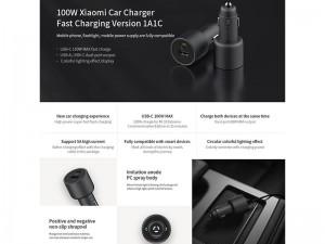 شارژر فندکی فست شارژ 100 وات شیائومی مدل CC07ZM