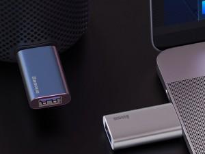 فلش مموری و آداپتور شارژ بیسوس Enjoy Music U-Disk 64GB ACUP-C0A ظرفیت 64 گیگابایت
