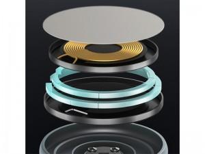پایه نگهدارنده مگنتی و شارژر وایرلس بیسوس مدل Swan Magnetic Wireless WXSW-01 مناسب سری 12 آیفون