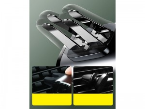 پایه نگهدارنده گوشی موبایل بیسوس مدل Steel Cannon Car Mount Air Outlet SUGP-01