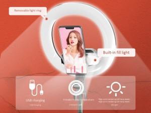 رینگ لایت عکاسی و مونوپاد بلوتوثی سه پایه دار مدل +XT-18S