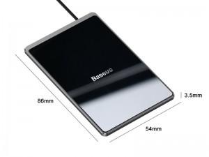 شارژر وایرلس مینی بیسوس مدل Card Ultra-thin Wireless Charger WX01B-01