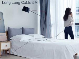 کابل فست شارژ تایپ سی بیسوس مدل Artistic Striped CATYW-B01 به طول 5 متر