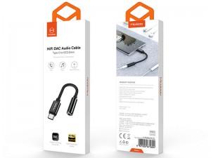 مبدل تایپ سی به صدا مک دود HiFi DAC Audio Cable CA-7560