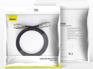 کابل HDMI بیسوس مدل Horizontal 4K HDMI Male to 4K HDMI Male Adapter Cable CADSP-B01 به طول 2 متر