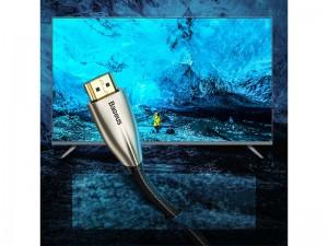 کابل HDMI بیسوس مدل Horizontal 4K HDMI Male to 4K HDMI Male Adapter Cable CADSP-A01 به طول 1 متر
