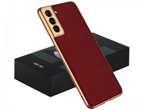کاور اورجینال لاکچری GKK مدل Luxury Leather Plating Case مناسب برای گوشی موبایل سامسونگ S21 Plus