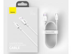کابل فست شارژ تایپ سی بیسوس مدل Superior Series Fast Charging Data Cable CATYS-02 به طول 1 متر و توان 66 وات