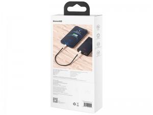 کابل پاوربانکی فست شارژ Type-C به Lightning بیسوس مدل Cafule Series Metal Data Cable 20W CATLJK-01 به طول 25 سانتیمتر