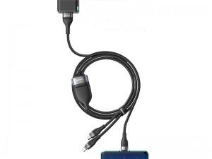 کابل فست شارژ سه سر بیسوس مدل one-for-three Fast Charging Data Cable CA1T3-G1 به طول 1.2 متر