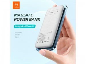 پاور بانک 10000 میلی آمپر وایرلس مک دودو مدل Magnetic Wireless Fast Charging
