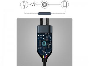 کابل دوکاره Type-C به Type-C فست شارژ بیسوس مدل Flash Series One-for-two Fast Charging Data Cable CA1T2-C01 به طول 1.5 متر