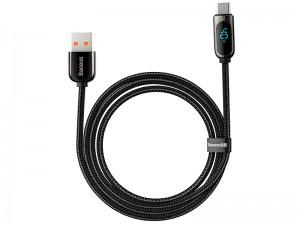 کابل فست شارژ تایپ سی بیسوس مدل Display Fast Charging Data Cable CATSK-01 دارای قطع کن خودکار
