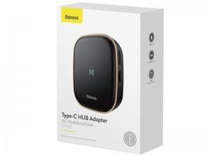 هاب چند کاره بیسوس مدل Type-C HUB Adapter AC Multifunctional Charger CAHUB-AU01 توان 60 وات