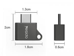مبدل USB به Type-C یسیدو مدل GS08