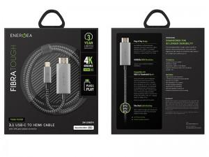 کابل تبدیل Type-C به HDMI انرژیا مدل FibraTough به طول 2 متر